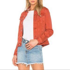 AG The Robyn Burnt Orange Stretchy Jean Jacket S